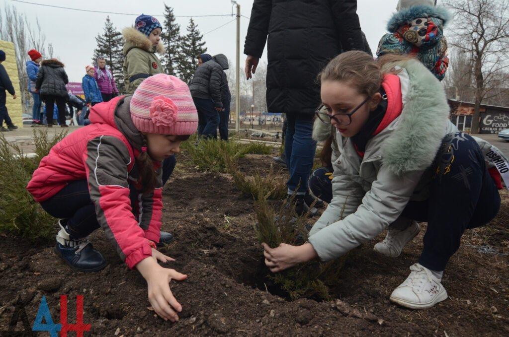 Более 13,5 тыс. деревьев, кустов и цветов высадили в ДНР участники субботника, фото-1