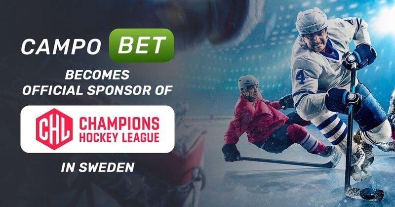 Официальным спонсором хоккейной Лиги чемпионов в Швеции выступит CampoBet